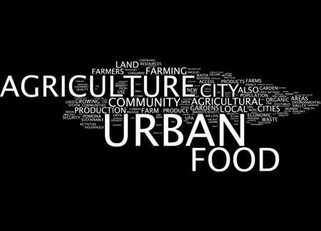 community garden: Word cloud of urban food in English language