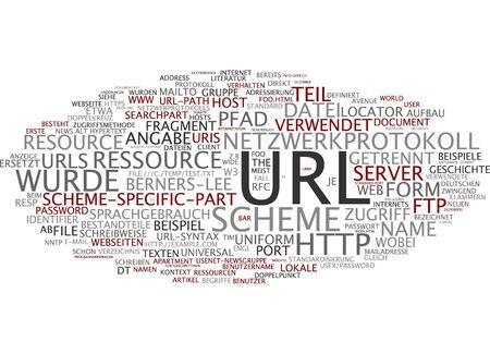 url: Word cloud of url in German language