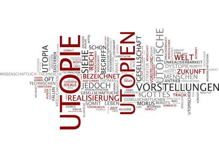 dystopia: Word cloud of utopia in German language