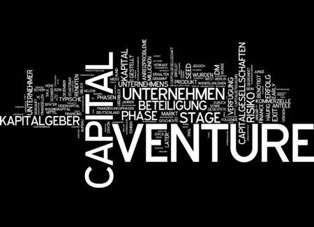 incentives: Word cloud of venture capital in German language
