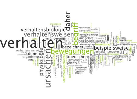 conduct: Word cloud of conduct in German language
