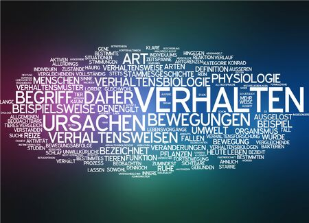 triggered: Word cloud of conduct in German language