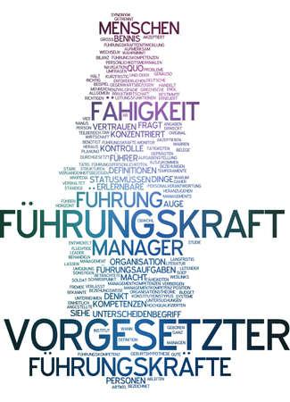 Word cloud of boss in German language photo