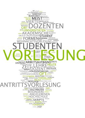 Word cloud of lecture in German language
