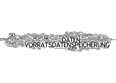 offenses: Word cloud of data storage supply in German language