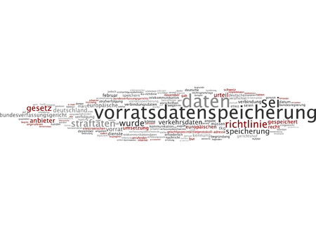 Word cloud of data storage supply in German language