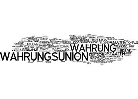 Word cloud of monetary union in German language