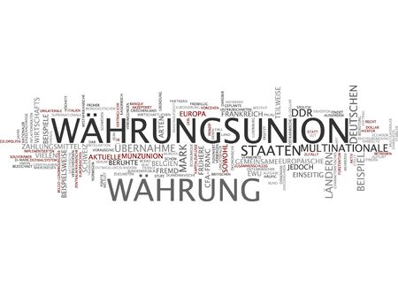 offenses: Word cloud of monetary union in German language