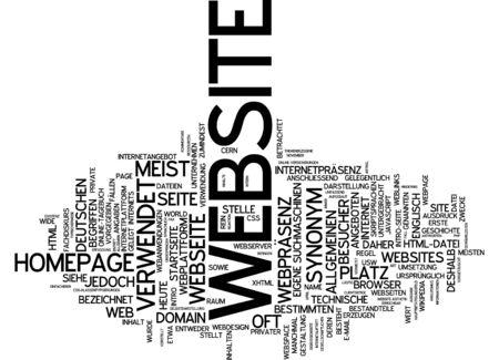 web presence internet presence: Word cloud of website in German language