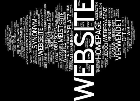 synonym: Word cloud of website in German language