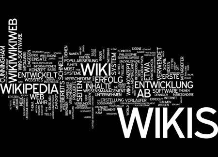 wikipedia: Word cloud of wikipedia in German language