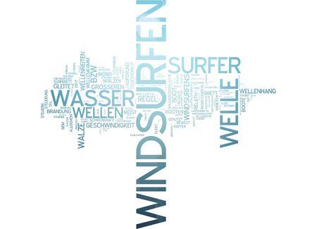 windsurf: Nube de palabras de windsurf en lengua alemana