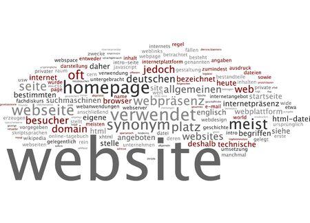 webserver: Word cloud of website in German language