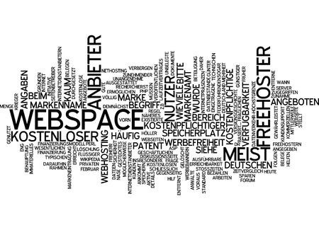 webspace: Word cloud of webspace in German language
