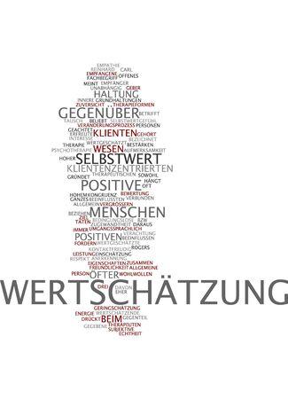 contempt: Nube de palabras de estima en lengua alemana