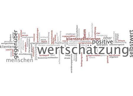 desprecio: Nube de palabras de estima en lengua alemana
