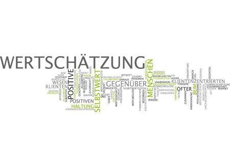 self worth: Word cloud of esteem in German language