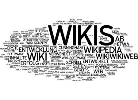 wiki wikipedia: Word cloud of wikipedia in German language