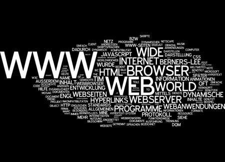 webserver: Word cloud of www in German language