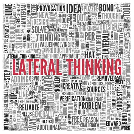 lateral: Close up Red LAW AND ORDER Text at the Center of Word Tag Cloud on White Background.