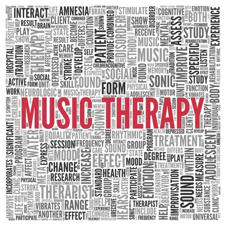 music therapy: Close up Red NARCISSISM Text at the Center of Word Tag Cloud on White Background.