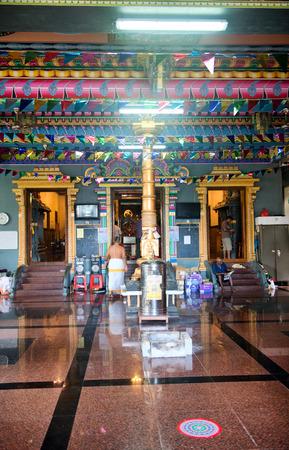 architectural interior: Colorful Architectural Interior Design of Arul Mihu Navasakthi Vinayagar Hindu Temple in Mahe Island, Seychelles.