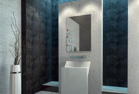 Design moderne salle de bains de luxe d'intérieur Banque d'images - 38437359
