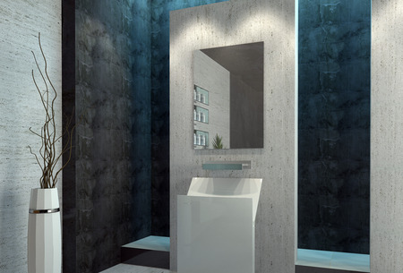 Modern design luxury bathroom interior Stock Photo