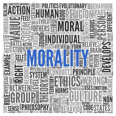 valores morales: Close up azul MORTALIDAD texto en el Tag Centro de nube de la palabra en el fondo blanco.