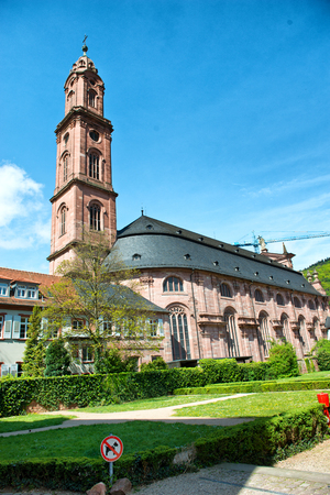 jesuit: Scenic view of the St Ignatius Catholic Church, Heidelberg, Germany, belonging to the Jesuit order