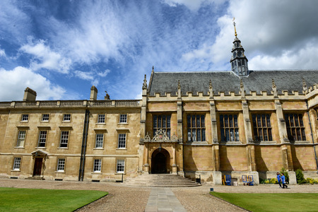 cambridge: The chapel at Trinity College, Cambridge University, Cambridge, UK, viewed from the Great Court