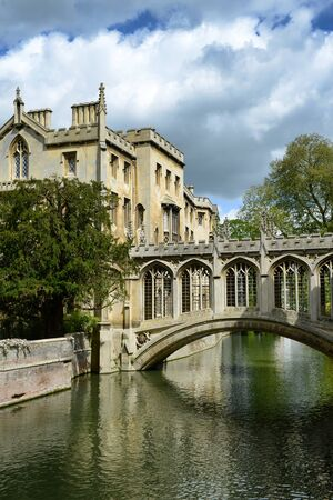 span: Bridge of Sighs, St Johns College, Cambridge designed by Henry Hutchinson to span the River Cam between the courts of the College