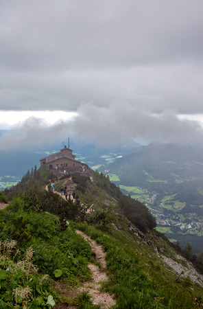 adolf hitler: The Kehlsteinhaus, or Eagles Nest, a Third Reich Tourist Attraction Presented to Adolf Hitler on 50th Birthday, on Outcrop Overlooking Obersalzberg, Germany