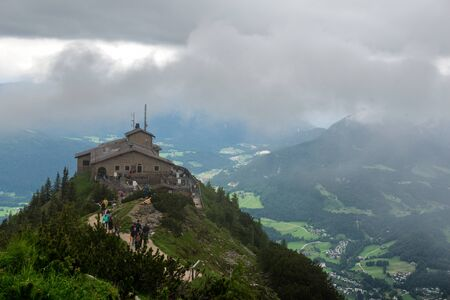 adolf: The Kehlsteinhaus, or Eagles Nest, a Third Reich Tourist Attraction Presented to Adolf Hitler on 50th Birthday, on Outcrop Overlooking Obersalzberg, Germany