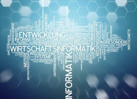computer science: Word cloud of economic computer science in german language
