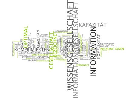computerization: Word cloud of information society in german language Stock Photo