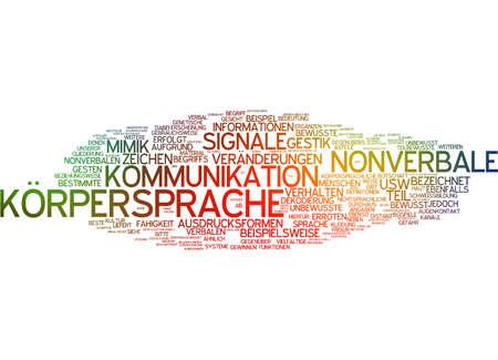 'body language': Word cloud of body language in german language