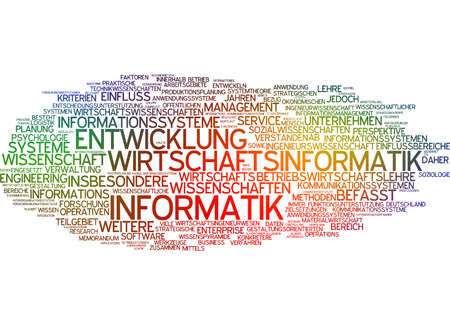 computer science: Word cloud of economic computer science in german language