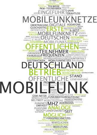 Word Cloud Of Connectivity In German Language Stock Photo