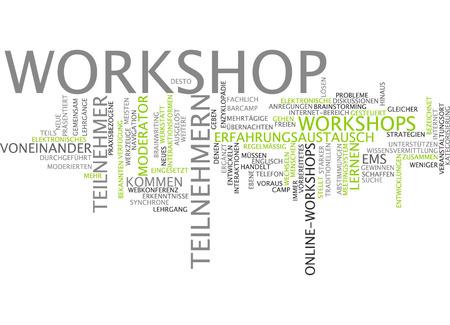 moderator: Word cloud of workshop in german language