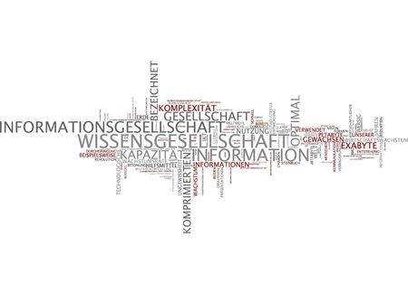 economic development: Word cloud of information society in german language Stock Photo