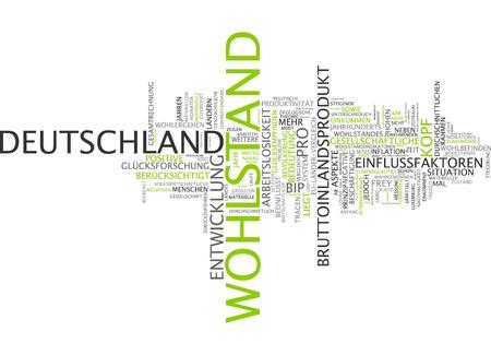 prosperidad: Nube de palabras de la prosperidad en alemán langauge