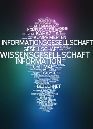 Word cloud of information society in german language Stock Photo