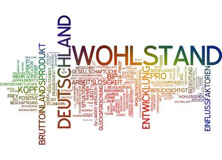 population growth: Word cloud of prosperity in german langauge