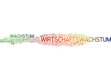calculated: Word cloud of economic growth in german language