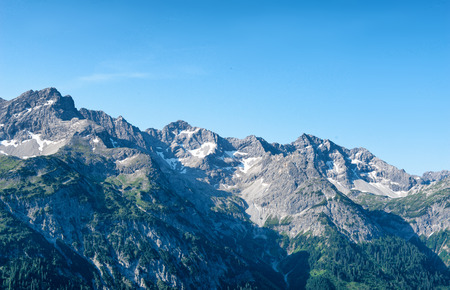 moutains: Alpine moutains near Hochvogel and Hinterhornbach in Tyrol Austria Stock Photo