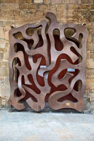 josef: Architectural Detail of Door Gateway Designed by Josef Paladina, Museu Diocesa, Barcelona, Spain