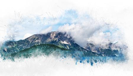 spur: Dreamy Scenic View of Berchtesgadener Hochthron, Highest Peak of Untersberg Massif Range in Berchtesgaden Alps, Bavaria, Germany