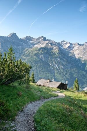 moutains: Alpine moutains near Hochvogel and Hinterhornbach in Tyrol Austria Editorial