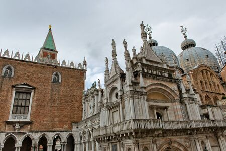 ducale: Exterior of Palazzo Ducale (Doges Palace) in Venice, Italy